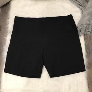 PGA Tour Pro Series Black Flat Front Golf Shorts
